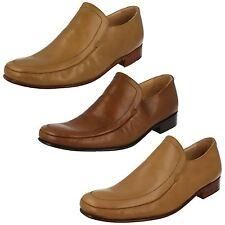 Mens Grenson Classic Leather Slip On Shoes - Dakota