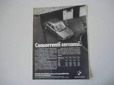 advertising Pubblicità 1979 BMW SERIE 5