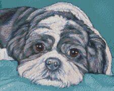 Cross Stitch Chart - Kit Shih Tzu Dog 6