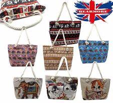 Borsa maniglia e corda stampa con animali da donna Shopping Bags Borse Zaini Borse