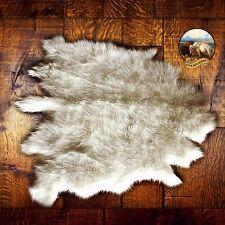 Plush Luxury Fur Buffalo Skin Hide Pelt Rug White Throw Faux Fur Shag Sheepskin