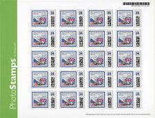 "Sheet 20 Perso Stamps USA ""Concorde 30 years 1st Flight London-Washington"" 2006"