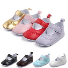 Newborn Baby Girl Shoes Anti-slip Soft Crib Shoes Leather Sneakers Prewalker UK