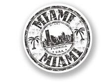 2 x Miami Florida Vinyl Sticker Travel Luggage USA #7087