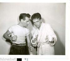 ORIGINAL B&W WARNER BROS 4x5 PHOTO DANE CLARK AND BOXER WHIPLASH 1940's #135