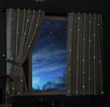 Vorhang fluoreszierend leuchtend Mond Sterne Schlaufenband Kinder -20495-