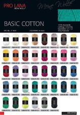 50g Pro Lana Basic Wolle Cotton uni 120m Häkelgarn Baumwolle