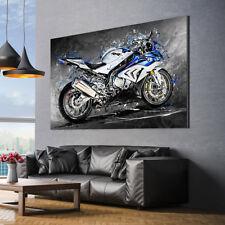 LEINWANDBILD BMW S1000RR MOTORRAD DEKO WAND BILD POSTER KUNSTDRUCK