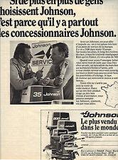 PUBLICITE ADVERTISING  1996   JOHNSON    le moteur le plus vendu dans le monde