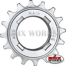 "ACS Maindrive 1/2"" x 1/8"" Freewheels 16 17 or 18 Teeth Chrome - Old School BMX"