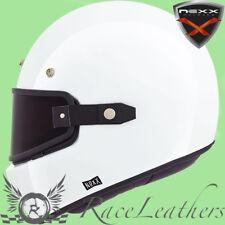 nexx XG100 Puriste blanc rétro casque moto + Attache lunettes protection visage