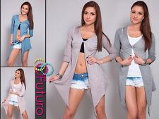 Women's Cardigan 3/4 Sleeve Asymmetric Bolero Shrug Tunic Top Size 8-12 FT356