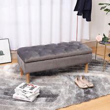 Soft Ottoman Storage Toy Chest Bedding Blanket Box Case Chair Bench Hallway Seat