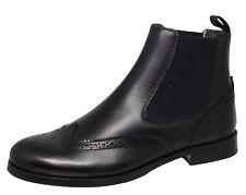 Gallucci 5078 Stiefeletten Chelsea Boots Lammfell schwarz Gr. 35 - 41 Neu