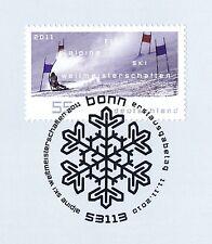 BRD 2010: Alpine Ski-WM Nr. 2834 mit sauberem Bonner Ersttags-Sonderstempel! 1A!