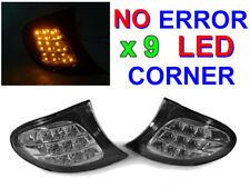 DEPO 2002-05 BMW E46 4D SEDAN / 5D WAGON AMBER x9 LED CLEAR CORNER LAMP LIGHT