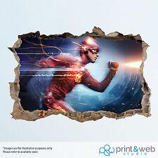 The Flash DC Wall Smash Decal Sticker 3D Bedroom Vinyl Mural Art Superhero