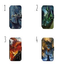 Fantaisie Dragon Étui Housse Portefeuille Iphone Samsung
