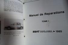 Seat MALAGA 1989 - 1991.... : MANUEL D'ATELIER