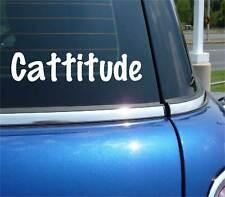 CATTITUDE CAT FELINE PET ATTITUDE FUNNY DECAL STICKER ART CAR WALL DECOR
