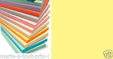Lot 40 feuilles de papier A4 couleur jaune PALE TENDRE pour scrapbooking 80g