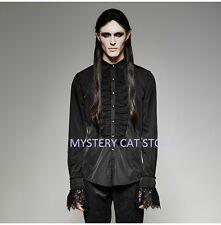 New PUNK RAVE Rock Goth Victorian Vampire Black Shirt Top Y-695 AUSTRALIAN STOCK