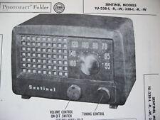 SENTINEL 1U-338-I, -R,-W, 338-I, -R, -W RADIO PHOTOFACT