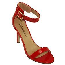 Breckelle's Women's Sydney-41 Adjustable Ankle cuff High Heel Dress Sandals