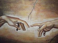 creation di adam michelangelo pittura a olio su tela classico riproduzione art