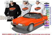88-91 EA FALCON UTE HOODIE ILLUSTRATED CLASSIC RETRO MUSCLE SPORTS CAR