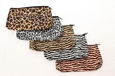 Bolsa de Cosméticos-make Up-Animal Print-Leopardo/Cebra-Grande-CT1-3