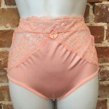 Rhonda Shear Pink Lace Inset Seamless Lt Control Brief Panties New