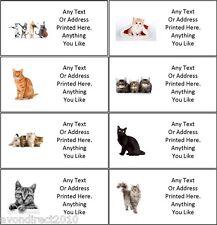 Pequeño Personalizado Gato dirección Correo Manualidades Etiquetas 21 por hoja