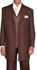 Men's Unique Designed, Zoot suit,3 piece With Matching Vest Brown Size 38R~56L