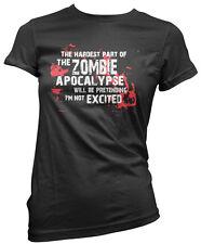 The Hardest Part of The Zombie Apocalypse Premium Womens T-Shirt Many Sizes