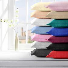 Plain Dyed Pair of Polycotton Cotton Blend Oxford Pillowcases Pillow Cases
