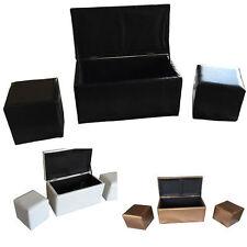 Hoga Chesterfield Sitzhocker Sitzwürfel Aufbewahrungsbox Truhe HF128