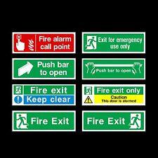Fire Exit / tenersi / Push Bar Plastica Firmare, Adesivo-tutti i materiali e le taglie