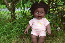 "12"" JAMES AFRO AFRICAN BLACK INTERACTIVE BABY BOY DOLL 30CM - SAMMAR GIFTS"