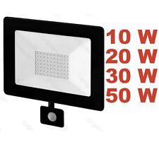 LED Flood Light Photocell Motion Sensor 10 20 30 50 W Security PIR Wall Mounted