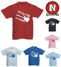 ROCKSTAR en Entrenamiento Música Rock Emo Banda infantil Camiseta 3yr UPTO 13yr