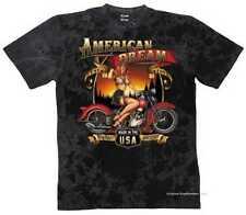 T Shirt Batik black Vintage HD Biker Chopper&OldSchoolmotiv Modell American Drea