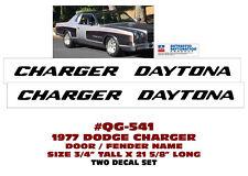 QG-541 1977 DODGE CHARGER DAYTONA - DOOR/FENDER DECAL SET - 2 DECALS - LICENSED