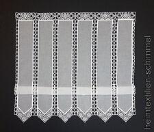 Clip Panneaux Scheibengardine Gardine Scheibenhänger Raffrollo weiß H=0,70m