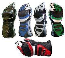Guanti da per moto di PELLE in rosso blu nero verde o bianco XS S M L XL 2XL 3XL