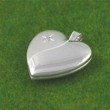 Sassi SL1023 Large 925 Sterling Silver Diamond Set Heart Shape FAMILY Locket