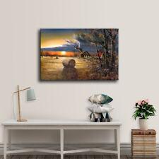 Home Decor Art HD Painting Room Decor Landscape Print on Canvas Autumn Harvest