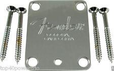 Fender Neck plate chrome 4-bolt American Stratocaster / Telecaster L@@K!!!!!!!!