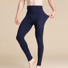 Mens Silk & Cashmere Blend Knit Thermal Long Johns Bottoms Silk Underwear M L XL