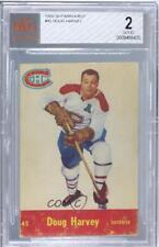 1955-56 Parkhurst #45 Doug Harvey BVG 2 Montreal Canadiens Hockey Card